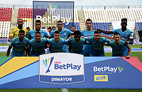 MONTERIA - COLOMBIA, 11-11-2020: Los jugadores de Jaguares de Cordoba F.C., posan para una foto, antes de partido entre Jaguares de Cordoba F.C., y Atletico Junior de la fecha 19 por la Liga BetPlay DIMAYOR 2020, en el estadio Jaraguay de Monteria de la ciudad de Monteria. / The players of Jaguares de Cordoba F.C., pose for a photo, prior a match between Jaguares de Cordoba F.C., and Atletico Junior, of the 19th date for the Betplay DIMAYOR League 2020 at Jaraguay de Monteria Stadium in Monteria city. Photo: VizzorImage / Andres Lopez  / Cont.