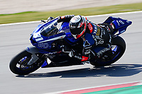 29th March 2021; Barcelona, Spain;  Superbikes, WorldSSP, day 1 testing at Circuit Barcelona-Catalunya; Manuel Gonzalez (ESP) riding Yamaha FZY-R6