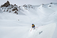Skiing in the Aksuu Valley, Kyrgyzstan