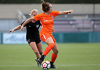 Portland, OR - Wednesday March 14, 2018: Lindsey Agnew, Alyssa Mautz during a National Women's Soccer League (NWSL) pre season match between the Houston Dash and the Chicago Red Stars at Merlo Field.