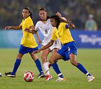 Carli Lloyd, Tania. The USWNT defeated Brazil, 1-0, to win the gold medal during the 2008 Beijing Olympics at Workers' Stadium in Beijing, China.