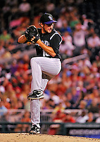 9 July 2011: Colorado Rockies pitcher Huston Street closes out the game against the Washington Nationals at Nationals Park in Washington, District of Columbia. The Rockies edged out the Nationals 2-1 to win the second game of their 3-game series. Mandatory Credit: Ed Wolfstein Photo