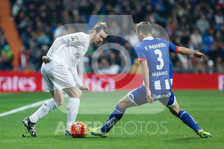 Real Madrid´s Gareth Bale during 2015/16 La Liga match between Real Madrid and Deportivo de la Coruna at Santiago Bernabeu stadium in Madrid, Spain. January 09, 2015. (ALTERPHOTOS/Victor Blanco)
