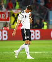 Mario Gomez (Deutschland Germany) enttäuscht - 02.06.2018: Österreich vs. Deutschland, Wörthersee Stadion in Klagenfurt am Wörthersee, Freundschaftsspiel WM-Vorbereitung