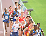 Wales' Adam Bitchell, centre, runs in the 10,000m final<br /> <br /> Photographer Chris Vaughan/Sportingwales<br /> <br /> 20th Commonwealth Games - Day 9 - Friday 1st August 2014 - Athletics - Hampden Park - Glasgow - UK