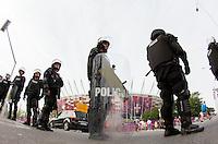 Arresti della polizia dopo incidenti e scontri tra Tifosi Russia  e Polonia.12/6/2012 Varsavia .Football Calcio Euro 2012 .Russia Vs Polonia.foto Insidefoto / EXPA/ Sportida/ Vid Ponikvar