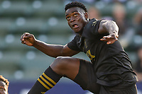 CARSON, CA - MAY 8: Jesús David Murillo #94 of LAFC moves to the ball during a game between Los Angeles FC and Los Angeles Galaxy at Dignity Health Sports Park on May 8, 2021 in Carson, California.