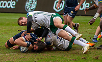 21st March 2021; AJ Bell Stadium, Salford, Lancashire, England; English Premiership Rugby, Sale Sharks versus London Irish; Lood de Jager of Sale Sharks grounds the ball for a try