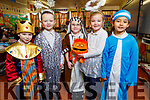 Miss Mullan's Senior Infants ready for the stage at their Christmas Play in Scoil Eoin Balloonagh on Monday.<br /> L to r: Casey Kislosky, Riley Maghan, Kyle Cummings, Sophia Foley, Alanna Moran.
