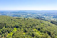 France, Saone et Loire, Regional Natural Park of Morvan, Mont Beuvray, Saint Leger sous Beuvray, Bibracte oppidum on the Mont Beuvray, forest massif (aerial view) // France, Saône-et-Loire (71), Parc naturel régional du Morvan, Mont Beuvray, Saint-Léger-sous-Beuvray, oppidum de Bibracte sur le mont Beuvray, massif forestier (vue aérienne)
