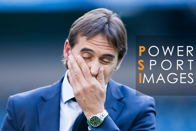 Spain head coach Julen Lopetegui reacts prior their 2018 FIFA World Cup Russia Final Qualification Round 1 Group G match between Spain and Italy on 02 September 2017, at Santiago Bernabeu Stadium, in Madrid, Spain. Photo by Diego Gonzalez / Power Sport Images