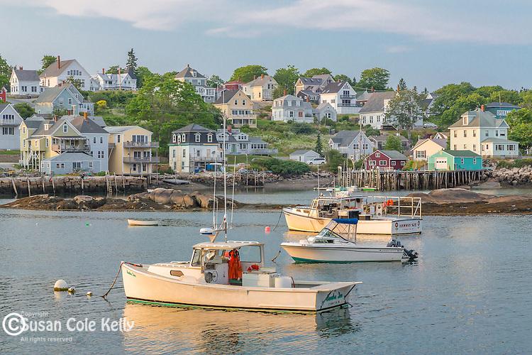 Evening light in the harbor in Stonington, Maine, USA