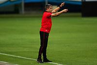 27th December 2020; Arena de Gremio, Porto Alegre, Brazil; Brazilian Serie A, Gremio versus Atletico Goianiense; Atletico Goianiense manager Marcelo Cabo sends in instructions