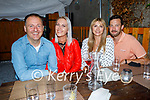 Enjoying the evening in Croi on Saturday, l to r: Maurice Breen, Simone Ninwj, Diana Sobas and Johathan O'Callaghan