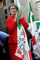 ANNA FINOCCHIARO .Roma 30/05/2011 Festeggiamenti a Piazza del Pantheon in seguito alla vittoria delle elezioni amministrative 2011 a Milano e Napoli..Photo Samantha Zucchi Insidefoto