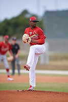 St. Louis Cardinals pitcher Ronnie Williams (13) during a Minor League Spring Training game against the Houston Astros on March 27, 2018 at the Roger Dean Stadium Complex in Jupiter, Florida.  (Mike Janes/Four Seam Images)