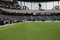 LAS VEGAS, NV - AUGUST 1: Allegiant Stadium before a game between Mexico and USMNT at Allegiant Stadium on August 1, 2021 in Las Vegas, Nevada.