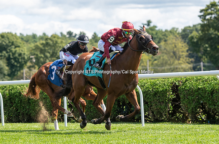 09042021:#9 Sheriff Bianco ridden by Jose Ortiz winsrace #1on The JOCKEY GOLD CUP day at Saratoga<br /> Robert Simmons/Eclipse Sportswire