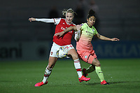Beth Mead of Arsenal and Demi Stokes of Manchester City during Arsenal Women vs Manchester City Women, FA Women's Continental League Cup Football at Meadow Park on 29th January 2020