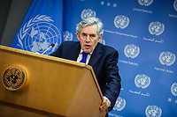 NOVA YORK, USA, 19.02.2019 - GORDON-BROWN - Gordon Brown enviado especial das Nações Unidas para a educação global durante coletiva de imprensa na sede da ONU em Nova York nesta terça-feira, 19. (Foto: William Volcov/Brazil Photo Press)