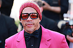 """Cannes Film Festival 2021 . 74th edition of the 'Festival International du Film de Cannes' under Covid-19 outbreak on 10/07/2021 in Cannes, France. Actors and guests arrive for the screening of the film """"De Son Vivant"""" (Peaceful) French rapper and actor JoeyStarr"""