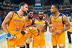 Herbalife Gran Canaria's players Pablo Aguilar, Royce O'Neale, Bo McCalebb and Richard Hendrix during the final of Supercopa of Liga Endesa Madrid. September 24, Spain. 2016. (ALTERPHOTOS/BorjaB.Hojas)