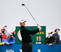 3rd July 2021; Mount Juliet Golf Club, Kilkenny, Ireland; Dubai Duty Free Irish Open Golf, Day Three; Justin Harding of South Africa tees off on the 1st hole