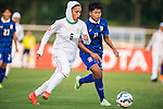 Thailand vs Iran during the AFC U-19 Women's Championship China Group B match at the Jiangsu Training Base Stadium on 23 August 2015 in Nanjing, China. Photo by Aitor Alcalde / Power Sport Images