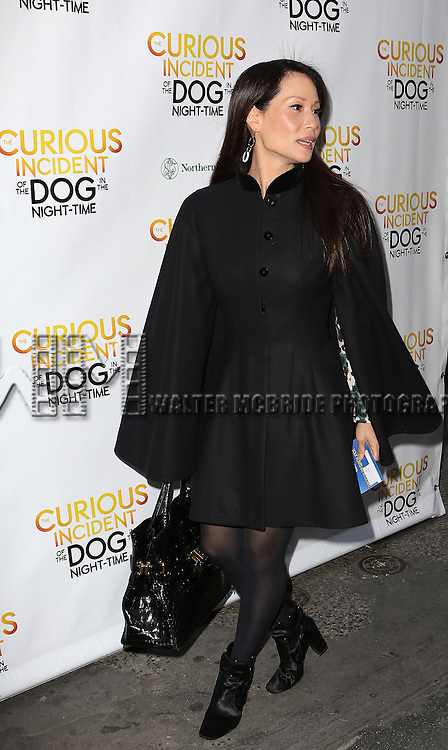 Lucy Liu attends the Broadway Opening Night Performance of 'The Curious Incident of the Dog in the Night-Time'  at the Barrymore Theatre on October 5, 2014 in New York City.