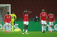 10th June 2021; Beira-Rio Stadium, Porto Alegre, Brazil; Copa do Brazil, Internacional versus Vitoria; Edenilson of Internacional laments after scored goal by Guilherme Santos of Vitória in the 85th minute for 1-3