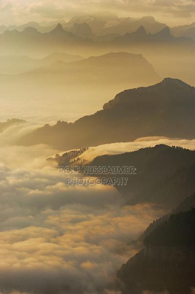 View from Mount Rigi, Swiss Alps, Switzerland