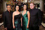 """From left: Dr. Suresh and Dr. Renu Khator with Dr. Parul Khator and Greg Cohen at the San Luis Salute """"Hollywood Dinner Club"""" in Galveston Friday Feb. 09,2018. (Dave Rossman Photo)"""