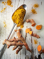 Fresh and powdered turmeric  or tumeric root (Curcuma longa)