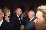 LILLIO E MARIA PIA SFORZA RUSPOLI CON  MIKHAIL GORBACIOV <br /> COCKTAIL PARTY IN ONORE DI GORBACIOV - HOTEL BAGLIONI ROMA 11-2000