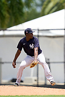 New York Yankees pitcher Tyrone Yulie (66) during an Extended Spring Training game against the Philadelphia Phillies on June 22, 2021 at the Carpenter Complex in Clearwater, Florida. (Mike Janes/Four Seam Images)