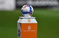 The Seasiders matchball<br /> <br /> Photographer Dave Howarth/CameraSport<br /> <br /> The EFL Sky Bet League One - Blackpool v Wigan Athletic - Tuesday 3rd November 2020 - Bloomfield Road - Blackpool<br /> <br /> World Copyright © 2020 CameraSport. All rights reserved. 43 Linden Ave. Countesthorpe. Leicester. England. LE8 5PG - Tel: +44 (0) 116 277 4147 - admin@camerasport.com - www.camerasport.com