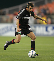 9 April 2005.  Ben Olsen (14) of DC United  handles the ball at the top of the box  at RFK Stadium in Washington, DC