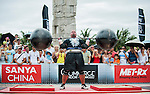 HAINAN ISLAND, CHINA - AUGUST 24:  Brian Shaw of USA competes at the Circus Medley event during the World's Strongest Man competition at Yalong Bay Cultural Square on August 24, 2013 in Hainan Island, China.  Photo by Victor Fraile