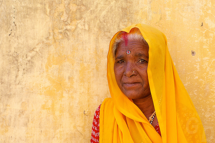 Women in the Amber Fort in Jaipur