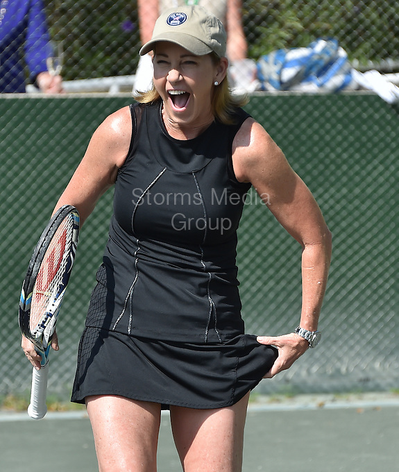 KEY BISCAYNE, FL - MARCH 24: Chris Evert at the Sixth Annual Ritz-Carlton Key Biscayne, Miami All-Star Charity Tennis Event at the Ritz Hotel on March 24, 2014 in Key Biscayne, Florida.<br /> <br /> <br /> People:  Chris Evert<br /> <br /> Transmission Ref:  FLXX<br /> <br /> Must call if interested<br /> Michael Storms<br /> Storms Media Group Inc.<br /> 305-632-3400 - Cell<br /> 305-513-5783 - Fax<br /> MikeStorm@aol.com