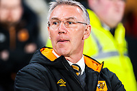 Hull City's manager Nigel Adkins during the Sky Bet Championship match between Hull City and Sheff United at the KC Stadium, Kingston upon Hull, England on 23 February 2018. Photo by Stephen Buckley / PRiME Media Images.