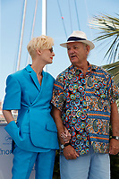 """CANNES, FRANCE - JULY 13:  Tilda Swinton and Bill Murray at photocall for the film """"The French Dispatch"""" at the 74th annual Cannes Film Festival in Cannes, France on July 13, 2021 <br /> CAP/GOL<br /> ©GOL/Capital Pictures"""