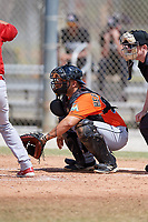 Miami Marlins Michael Hernandez (20) during a Minor League Spring Training game against the St. Louis Cardinals on March 26, 2018 at the Roger Dean Stadium Complex in Jupiter, Florida.  (Mike Janes/Four Seam Images)