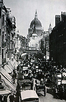 London:  Fleet Street, Ludgate Hill 1897.   Picture from VICTORIAN ARTISTS AND THE CITY, 1980.   Reference only.