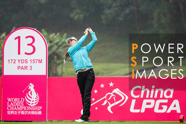 Maria Verchenova of Russia plays during the Pro-Am Tournament part of the World Ladies Championship 2016 on 09 March 2016 at Mission Hills Olazabal Golf Course in Dongguan, China. Photo by Victor Fraile / Power Sport Images