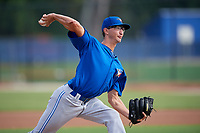 Toronto Blue Jays starting pitcher Kyle Weatherly (85) delivers a pitch during an Instructional League game against the Philadelphia Phillies on October 7, 2017 at the Englebert Complex in Dunedin, Florida.  (Mike Janes/Four Seam Images)