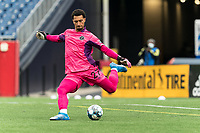 FOXBOROUGH, UNITED STATES - MAY 28: Drake Callender #27 of Fort Lauderdale CF passes the ball during a game between Fort Lauderdale CF and New England Revolution II at Gillette Stadium on May 28, 2021 in Foxborough, Massachusetts.