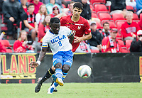 College Park, MD. - Saturday, September 08, 2018: UCLA defeated the University of Maryland 1-0 in a college match at Ludwig Field.
