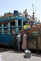 Vereinigte arabische Emirate (VAE), Dubai, Dhau  (Schiff)  am Creek