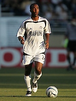 Ricky Lewis looks to pass the ball. The San Jose Earthquakes defeated the Colorado Rapids 1-0 at Spartan Stadium in San Jose, CA on June 29, 2005.